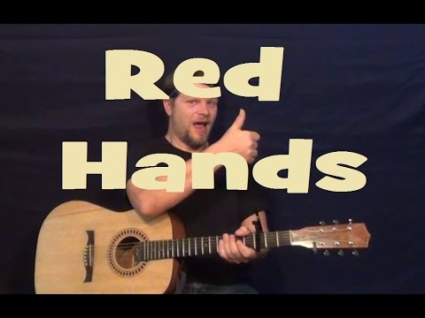 Red Hands (Walk Off the Earth) Easy Strum Guitar Lesson Chords Licks ...