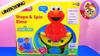 Play Doh Oyun hamuru Sesame Street Elmo Shape & Spin Unboxing - Oyuncak Tanıtımı Türkce
