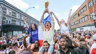 French football fans celebrate in Montreal thumbnail