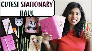 Stationary Haul 2018 India | Cute Stationery Haul - Cute Planners & Cute Pens Collection | AdityIyer