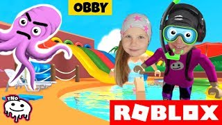 We RUN from the AQUAPARK-Escape The Waterpark Obby! | Roblox | Daddy and Barunka CZ/SK