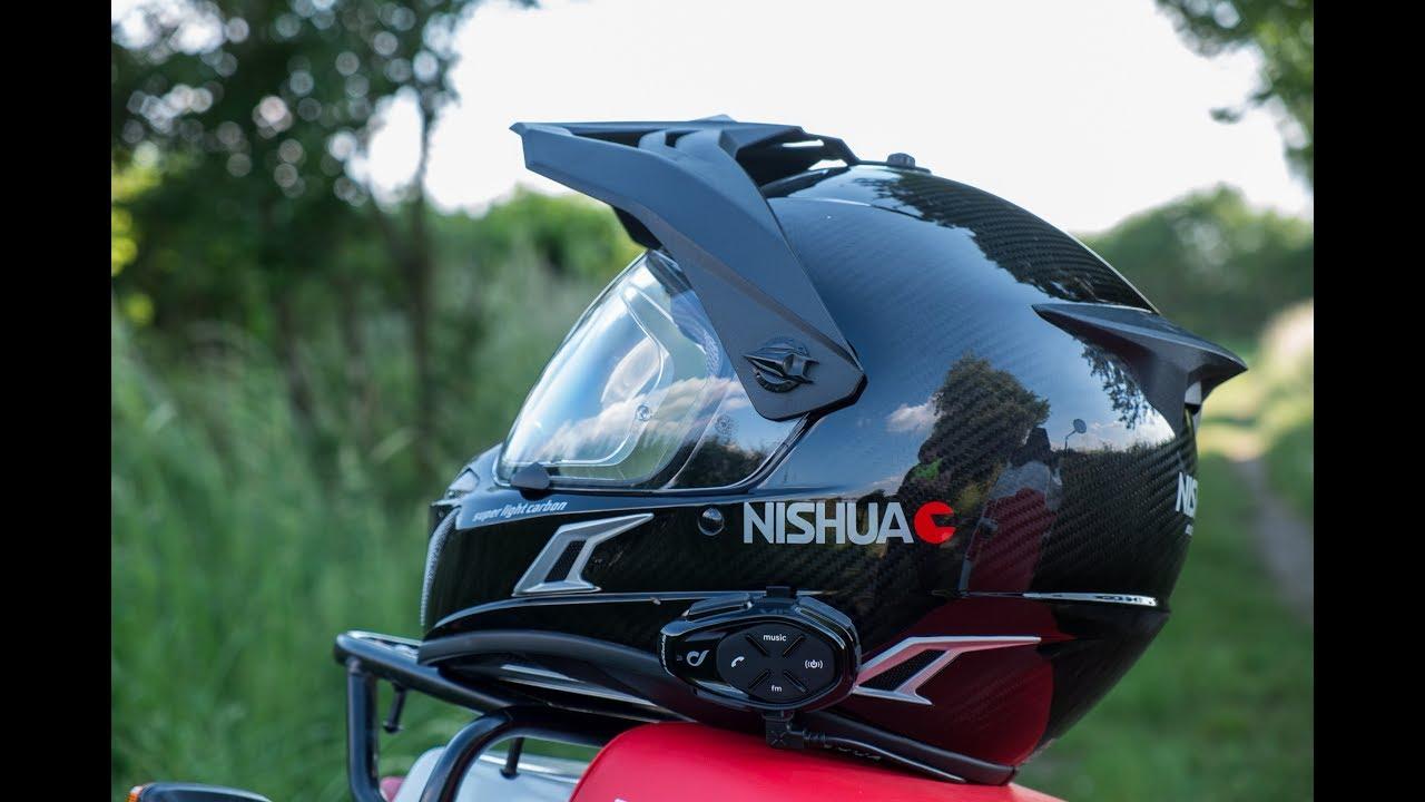 Test Du Casque Nishua Enduro Carbone Poids Plume Motard