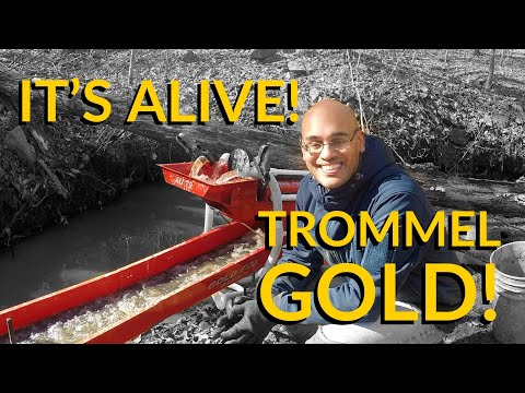 GOLD Prospecting An OLD MINE With NEW Gold Fox Lil' Monster Trommel