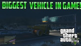 Gta5: Insane Huge Dump Truck Gameplay & Location! (Crazy Vehicle)