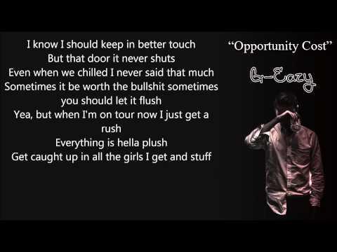 G-Eazy – Opportunity Cost Lyrics