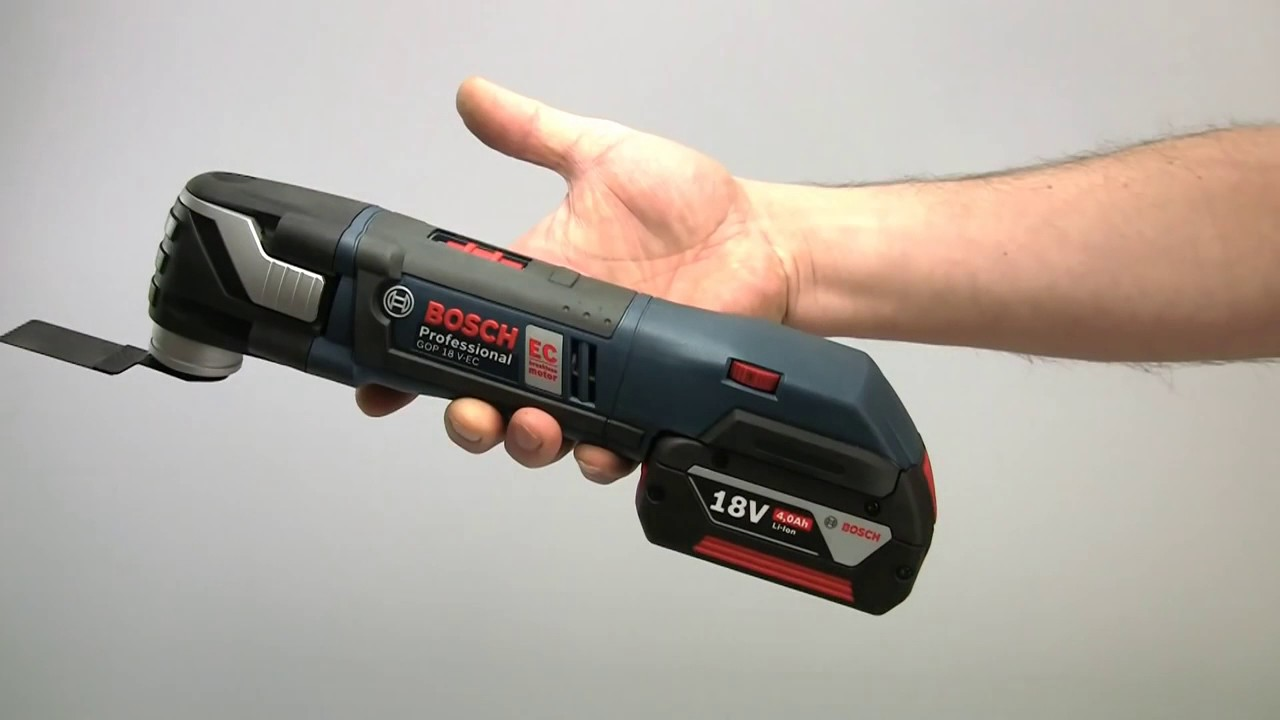 bosch professional gop 18v ec brushless multi-tool - youtube