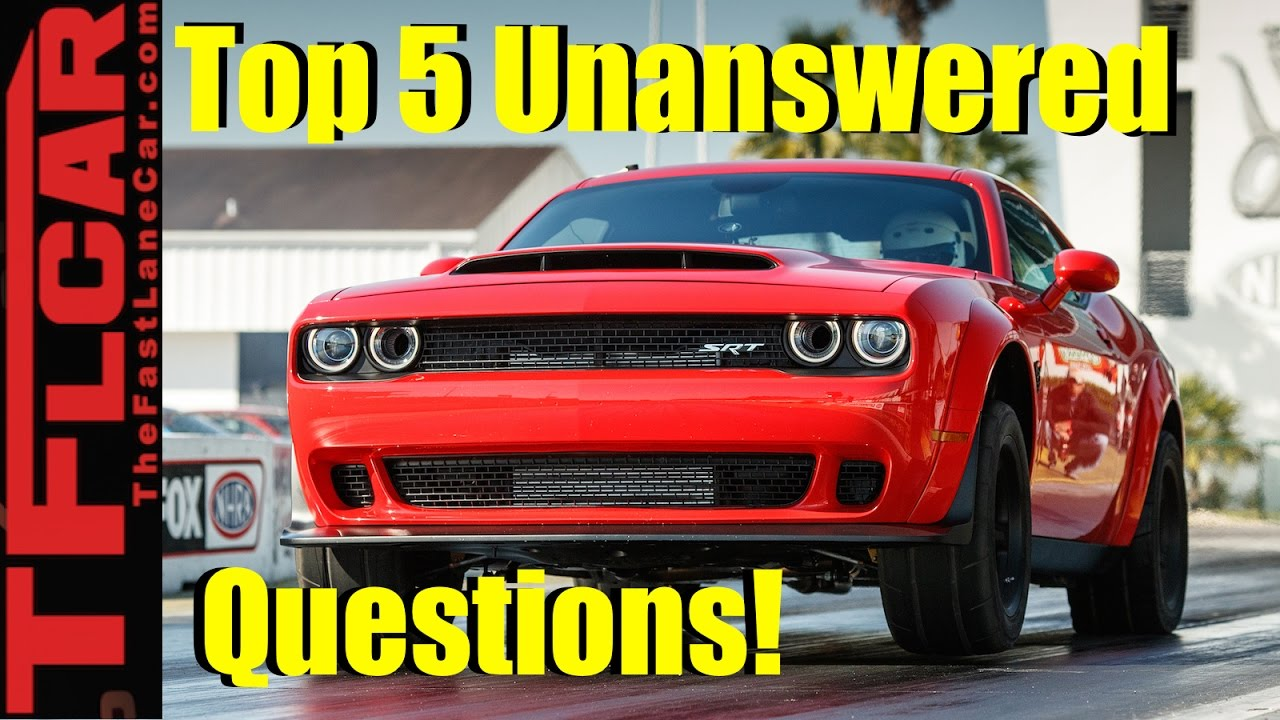 2018 Dodge Demon Top 5 Unanswered Questions