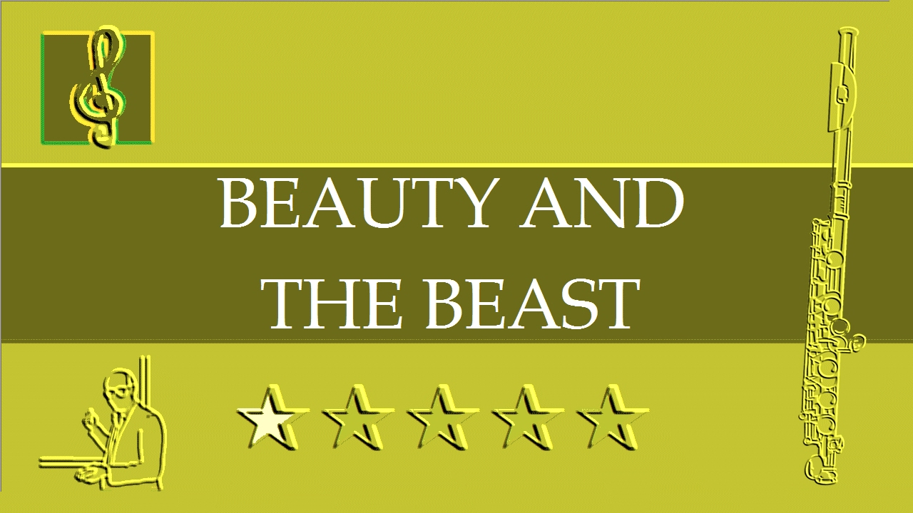 flute sheet music disney beauty and the beast