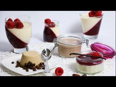 Panna cotta Grundrezept und Variationen - klassisch, schokoladig, mit Kaffee - Panna cotta recipe