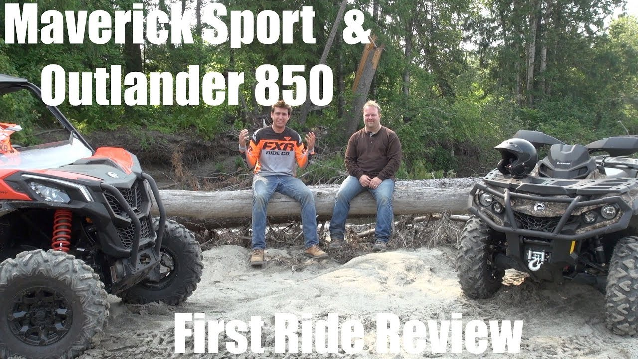 2019 Maverick Sport & Outlander 850 First Ride After Action Report