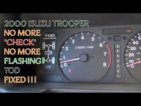 Isuzu Trooper Flashing 2WD 4WD TOD Check VSV  Issue Cleared!