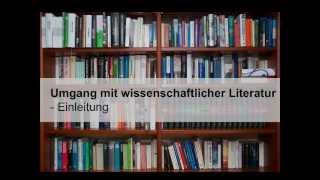 Wissenschaftliche Literatur - Einleitung (1)