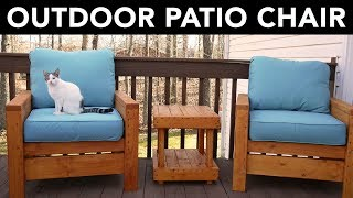 Building an Outdoor Patio Chair -  How To/Instructional (Plans by Ana White)