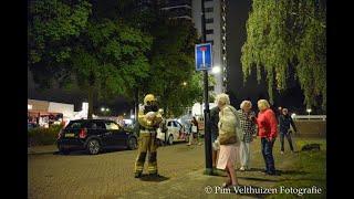 Grote brand Kalmoesstraat Apeldoorn. Etage ontruimd. ©Pim Velthuizen