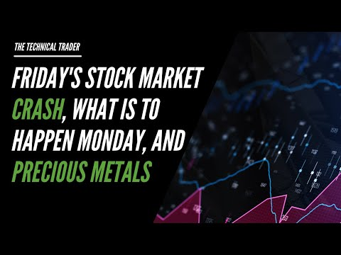 Friday's Stock Market Crash, What Is To Happen Monday, And Precious Metals