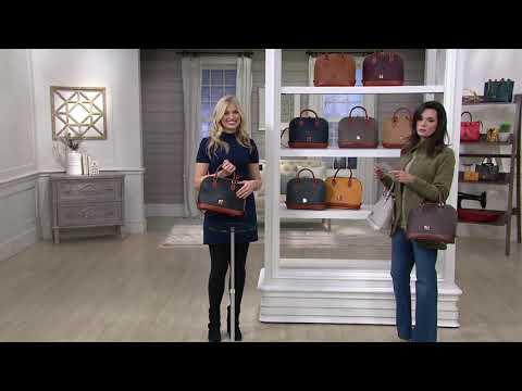 Dooney & Bourke Pebble Leather Zip Zip Satchel on QVC