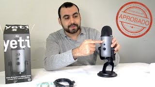 Micrófono para YouTube y Podcast BLUE YETI 🎶 🎤 📽