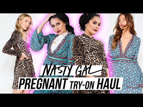 Nasty Gal PREGGO TRY ON Haul!