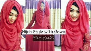 Gown Covering chest Hijab Style | Pari ZaaD