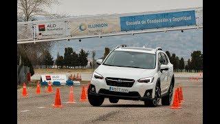 Subaru XV 2018 - Maniobra de esquiva (moose test) y eslalon   km77.com