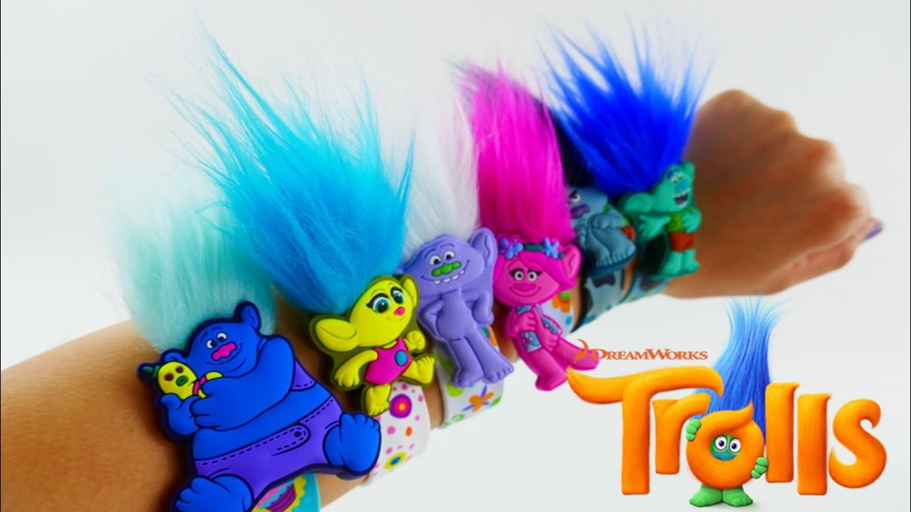 Dreamworks Trolls Movie Slapbands Toys Poppy Branch Guy Diamond And More Evies Toy House You