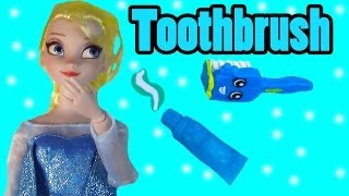 Disney Frozen Queen Elsa Toothbrush Brushing Teeth Shopkins Food Frozen Doll Play