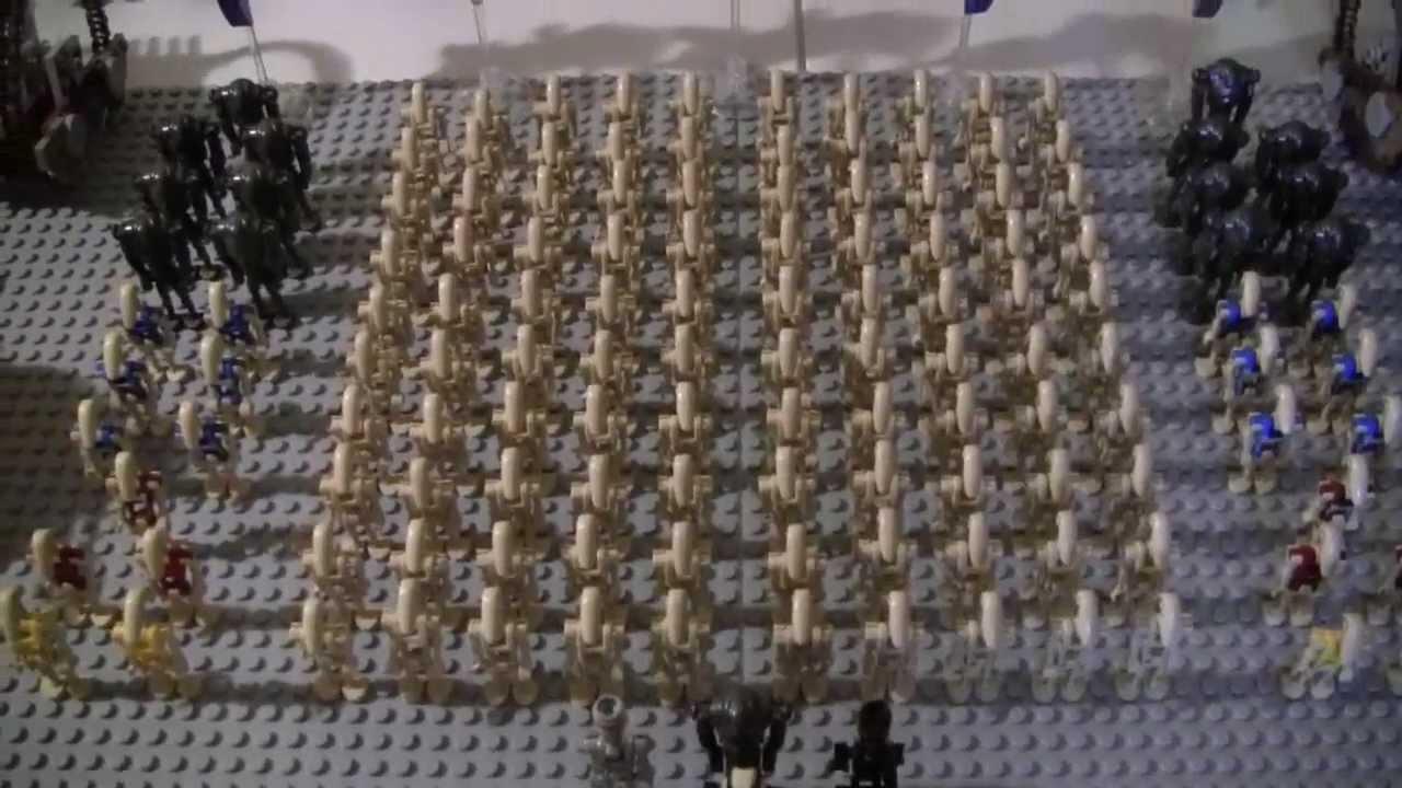 My lego star wars droid army youtube - Lego star wars base droide ...