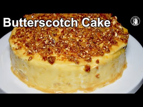 Butterscotch Cake Without Oven - Caramel Cake With Homemade Butterscotch Sauce - Cake Recipe