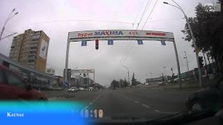 From Trakai to Kaunas, Lithuania by car. Hi speed car cam recording. Round Europe travel.(Big car driving travel around Europe Part of recorded on carcam video on route: Moscow, Russia - Belarus, Lithuania, Poland, Slovakia, Hungary, Austria, ..., 2013-08-27T16:32:41.000Z)