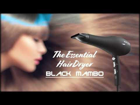 Aliseo Black Mambo - The Essential Hairdryer