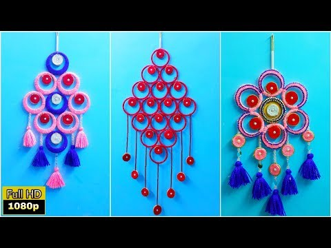 3 Awesome old bangles reuse idea at home | Best out of waste|wall hanging out of waste|wall hanging