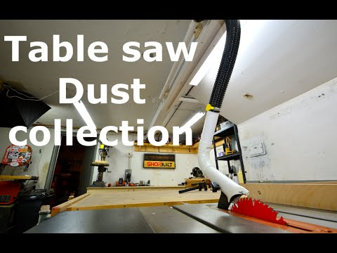 Shopbuilt Overhead Table Saw Dust Collection Youtube