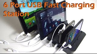 6 USB Port Charging Station for Phone & Tablets