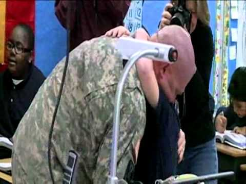 Soldier Dad Surprises Son At Pearl School
