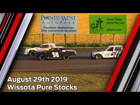 August 29th 2019, RRCS Wissota Pure Stock Heats & Feature