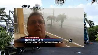 Scary First Video Miami hit by Irma Hurricane , Florida - hurricane Irma aftermath