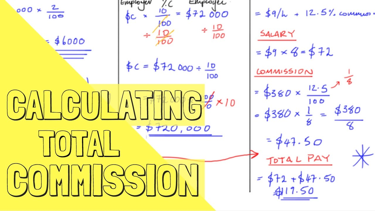 Calculate Commission