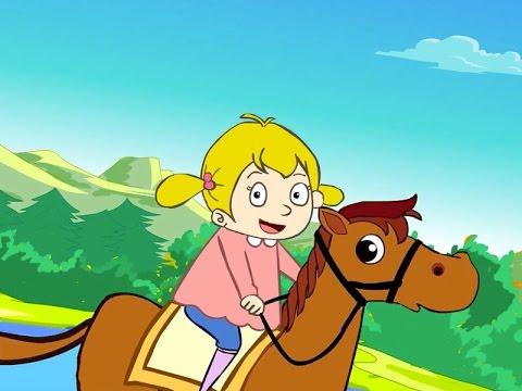 Elle descend de la montagne à cheval