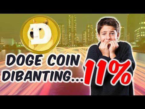 Doge Koin DIBANTING Hingga 11% - Ada Apa Dengan DOGE COIN? - Apakah Masih LAYAK Di Investasikan?