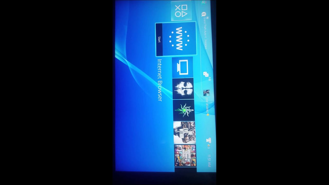 How do you use internet explorer on ps4