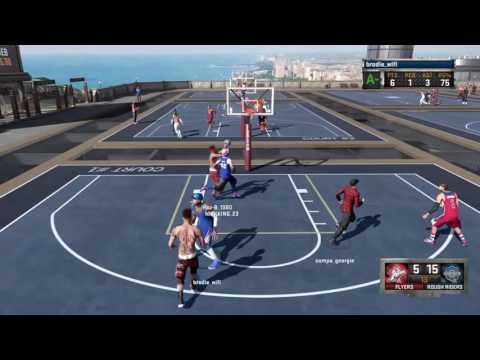 NBA 2K16_gameplay Brodie Wifi Rivet City games vs oldtown dudes