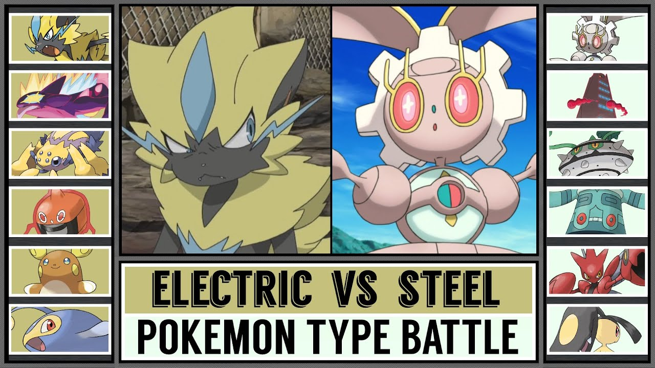 Pokémon Type Battle: ELECTRIC vs STEEL