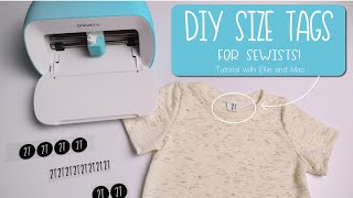 DIY Size Tags for Clothing You Sew!