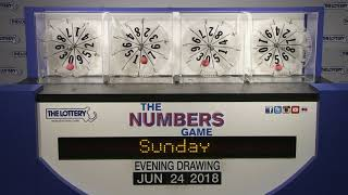 Evening Numbers Game Drawing: Sunday, June 24, 2018
