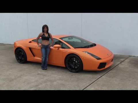 Interview With Glenda on Orange Lamborghini Gallardo