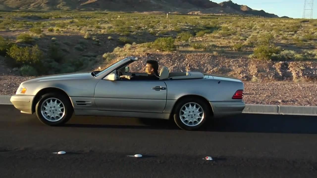 1996 mercedes benz 500 sl convertible test drive viva las vegas autos youtube. Black Bedroom Furniture Sets. Home Design Ideas