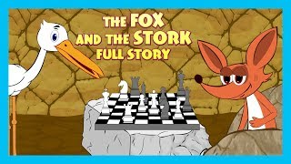 THE FOX AND THE STORK FULL STORY | ENGLISH ANIMATED STORIES FOR KIDS | TRADITIONAL STORY