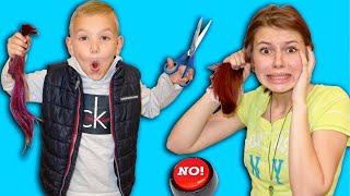 I Cut My Sister&#39s Hair! Birthday Boy Controls Our Day! Can&#39t Say No For 24 Hours!