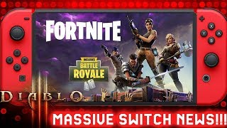 Massive  Rumor: Fortnite Switch Release Date & Diablo 3 Switch Coming 2019 - Doom Switch Update