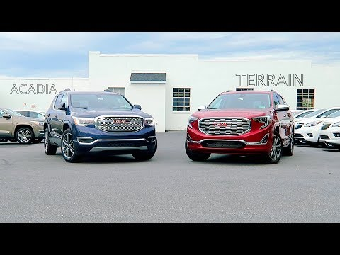 GMC Terrain VS GMC Acadia What's the difference?